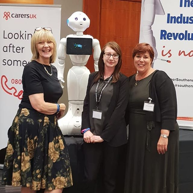 This time last week we were meeting old friends and new (Pepper the robot) at @carers_uk state of caring conference.