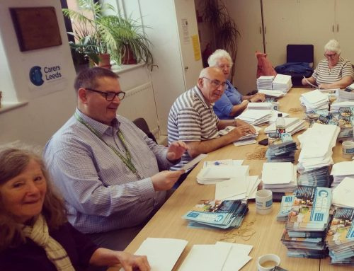 Carers News will soon be popping through your letterbox thanks to this fabulous bunch of people!