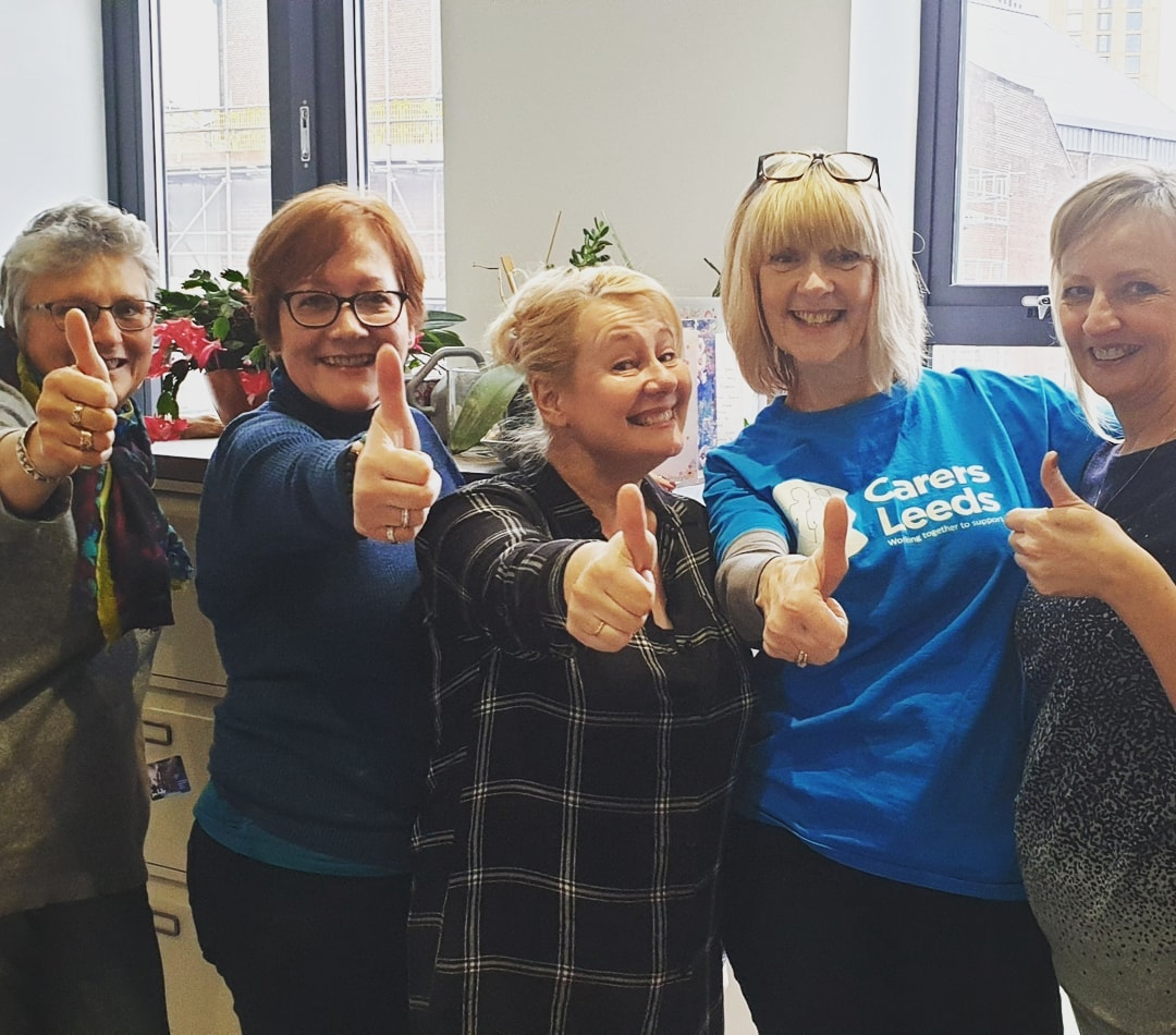 Its a thumbs up from our team for carers rights day!