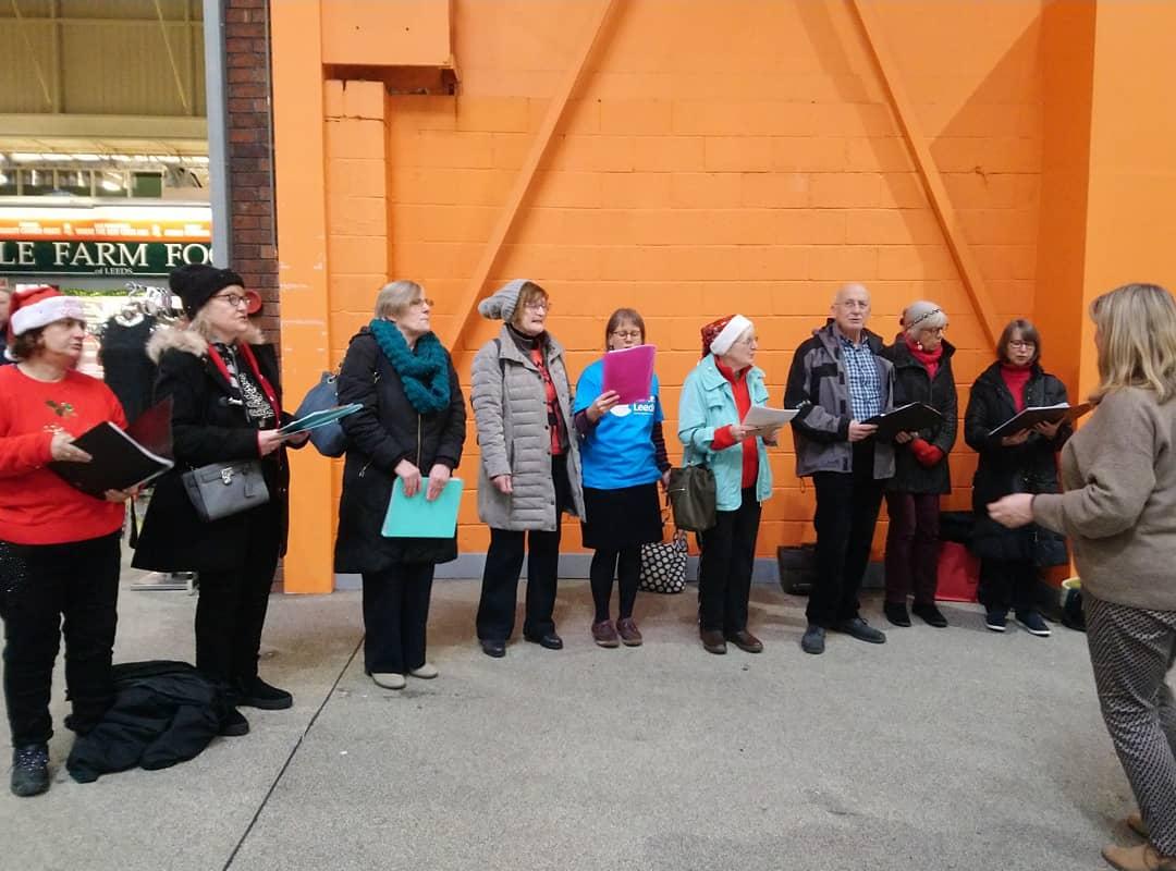Our Festive sing a long has begun. Join us at @leedsmarket to hear our fantastic choir