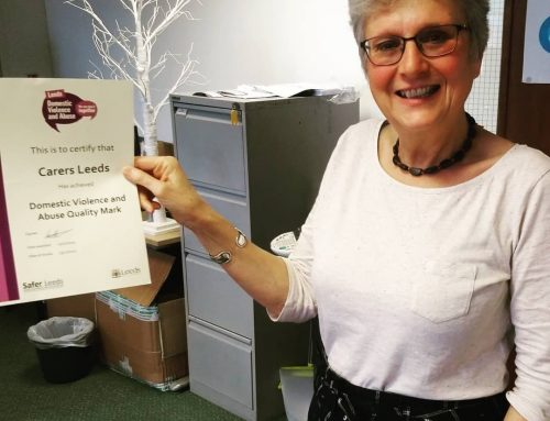 We've just been awarded the Leeds domestic abuse quality mark! Our dedicated team are trained in many specialist areas. Get in touch if you want any carer support or information.