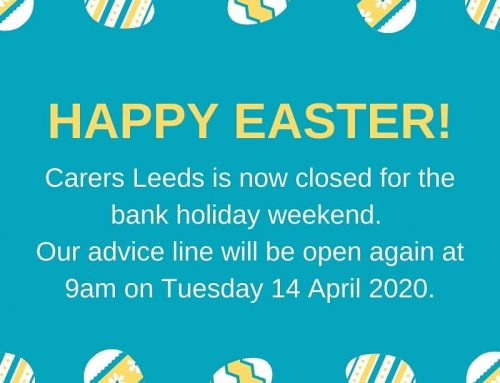 New coronavirus guidance for carers:  https://www.gov.uk/government/publications/coronavirus-covid-19-providing-unpaid-care/guidance-for-those-who-provide-unpaid-care-to-friends-or-family Wishing you all a happy Easter.